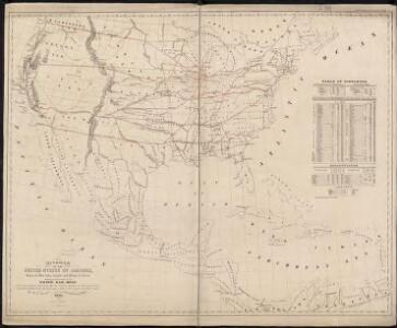 Diagram of the United States of America, Mexico, the West India Islands and Isthmus of Darien : showing proposed routes of the Pacific Rail Road ...