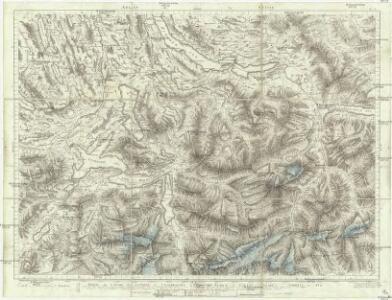 Partie du canton de Lucerne, d'Unterwalden, d'Uri et Zurich, le canton Glarus Schweiz et Zug
