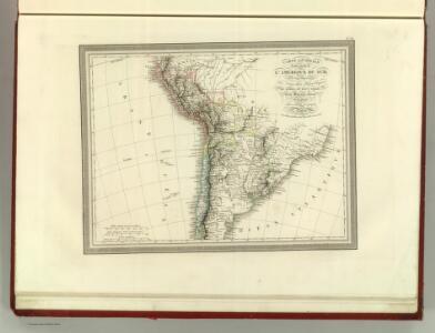 Carte Generale d'une partie de l'Amerique du Sud .
