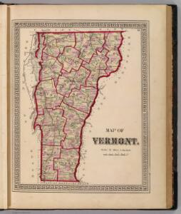 Map of Vermont.