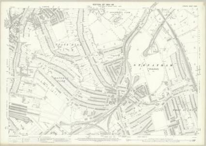 London (Edition of 1894-96) CXXVI (includes: Lambeth St Mary; Wandsworth Borough) - 25 Inch Map
