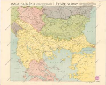 Mapa Balkánu