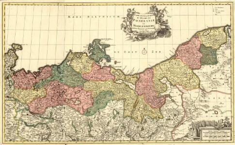 Carte geographique du Duché de Pomeranie et Mecklenboroug