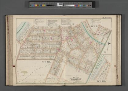 Rochester, Double Page Plate No. 25 [Map bounded by Averill Ave., Pearl St., S. Goodman St., Mt. Hope Ave.] / compiled from official records, private plans & actual surveys under the direction of E. Robinson.