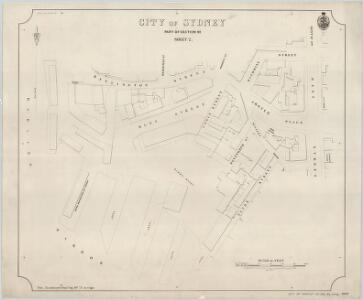 City of Sydney, Section 92, Sheet 2, 1889