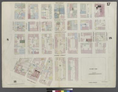 [Plate 17: Map bounded by Laight Street, Varick Street, Franklin Street, West Broadway, Thomas Street, Hudson Street, Duane Street, West Street]