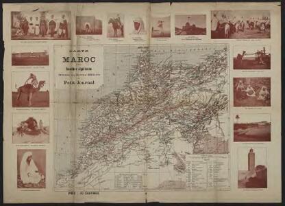 Carte du Maroc et de la frontière algérienne dressée au Bureau Militaire du Petit Journal