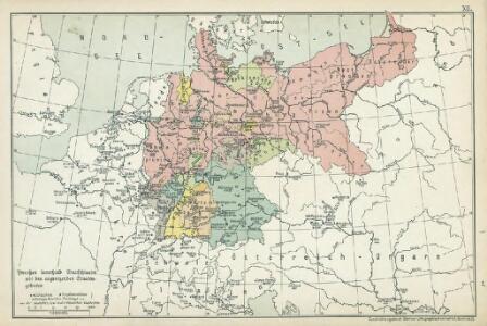 XII. Preußen innerhalb Deutschlands mit den angrenzenden Staatengebieten