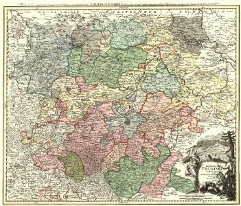 Landgraviat Thuringiae Tabula Generalis in suos Principatvs et Statvs accurate divi.