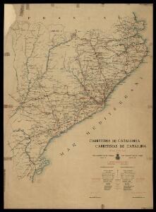 Carreteres de Catalunya: mapa oficial del Real Automòbil Club de Catalunya / publicat per J. Muntadas Rovira ; gravat per J. Serra