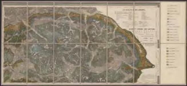 Geologische Übersichtskarte des tirolisch-venetianischen Hochlandes zwischen Etsch und Piave