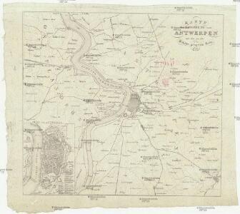 Karte der Umgebung von Antwerpen