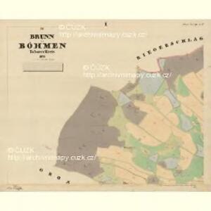 Brunn - c7515-1-001 - Kaiserpflichtexemplar der Landkarten des stabilen Katasters