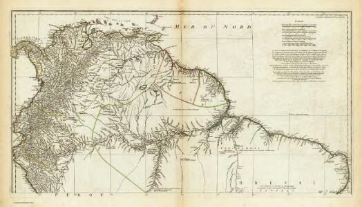 (Amerique Meridionale. Northern section)