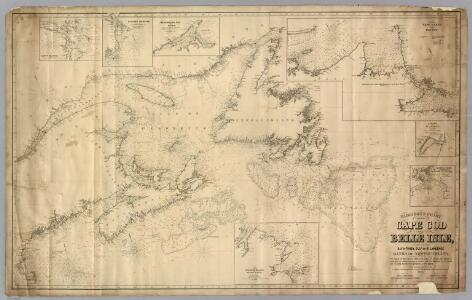 Chart From Cape Cod To Belle Isle.