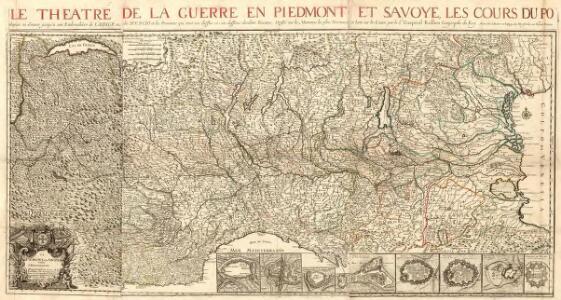 Le Theatre de la Guerre en Piedmont et Savoye, les Cours du Po