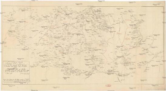 Carte militaire et itineraire du royaume de Servie