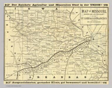 Map of Missouri.