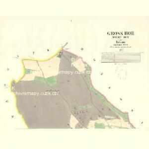 Gross Bor (Welky Bor) - c8441-1-001 - Kaiserpflichtexemplar der Landkarten des stabilen Katasters
