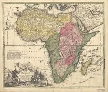 Totius Africae nova repraesentatio, qua praeter diversos in ea status et regiones, etiam origo Nili ex veris rr. pp. missionariorum relationibus ostenditur