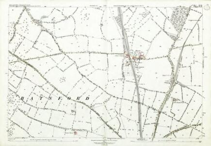 Gloucestershire XV.10 (includes: Batsford; Blockley; Bourton on the Hill) - 25 Inch Map