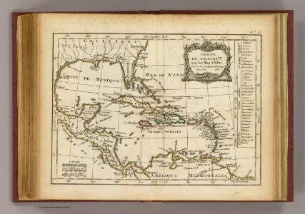 Golfe du Mexique, Isles Antilles.