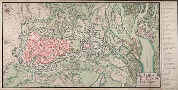 Plan De Strasbourg avec ses environs