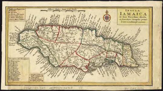 Insula Iamaica : in suas parochias divisa et secundum exemplar primitivum Londinense excusa