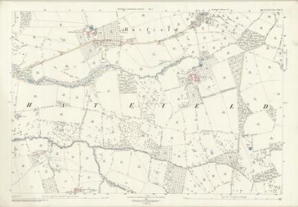 Herefordshire XIII.15 (includes: Hampton Charles; Hatfield; Thornbury; Wacton) - 25 Inch Map