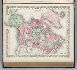 Northern America, British,  Russian and Danish Possessions in North America.