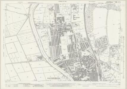Lincolnshire XLII.8 (includes: Beckingham; Gainsborough; Thonock; Walkeringham) - 25 Inch Map