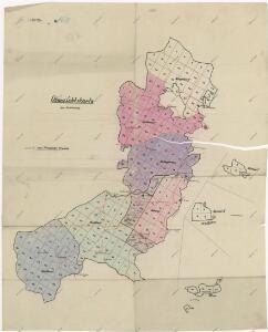 Lesní přehledová mapa velkostatku Tachov