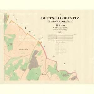 Deutsch Lodenitz - m0797-2-002 - Kaiserpflichtexemplar der Landkarten des stabilen Katasters