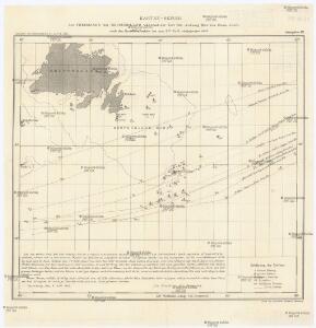 Karten-Skizze des Treibeises bei Newfundland während der Zeit von Anfang Mai bis Ende Juni, nach den Berichten, welche bis zum 8ten Juli eingegangen sind