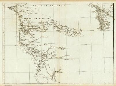 Carte particuliere de la Cote occidentale de l'Afrique, depuis le Cap Blanc jusqu'au Cap de Verga. (Southern section)