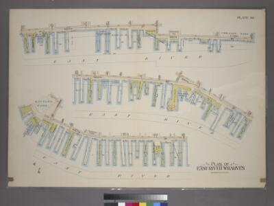Plate 40: Plan of East River Wharves. [Covers the Wharves between Corlears Street - Maiden Lane on South Street.]