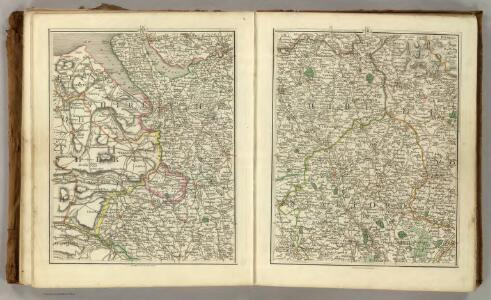 Sheets 40-41.  (Cary's England, Wales, and Scotland).