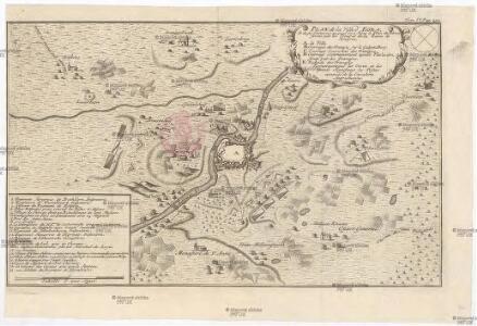 Plan de la ville d'Egra, et de ses environs, auquel on a joint le plan du blocus formé par les troupes de la reine de Hongrie