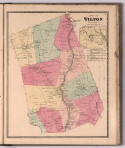 Town of Wilton, Fairfield County, Connecticut.  (inset) Wilton.
