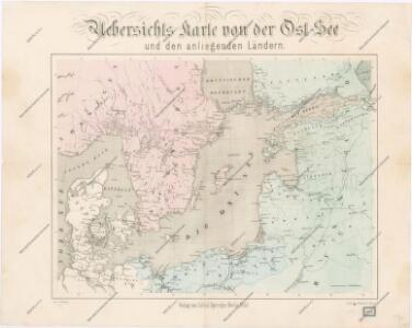 Uebersichtskarte von der Ost - See und den anliegenden Ländern