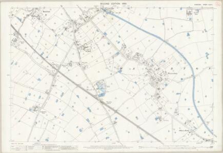 Cheshire XLVII.1 (includes: Hatton; Rowton; Saighton; Waverton) - 25 Inch Map