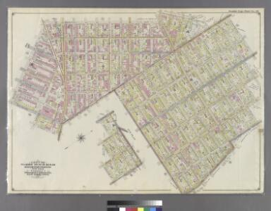 Double Page Plate No. 32: [Bounded by Marcy Ave., Metropolitan Ave., N. Fifth St., Havemeyer St., Withers St., Union Ave., Richardson St., Leonard St., Frost St., Manhattan Ave., Withers St., Graham Ave., Jackson St., Humboldt St., Metropolitan Ave., Bus