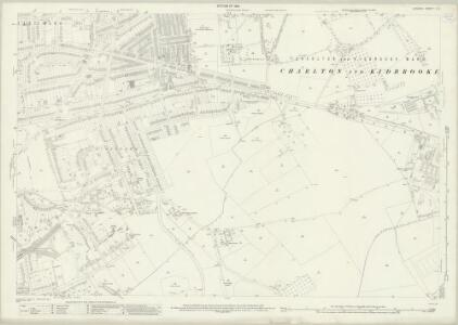 London (1915- Numbered sheets) X.6 (includes: Borough Of Greenwich) - 25 Inch Map