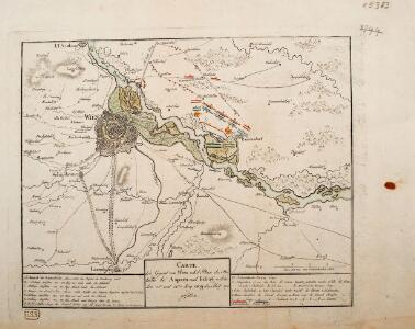 Carte der Gegend um Wien
