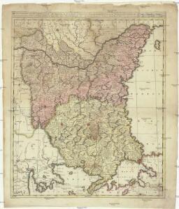 Bulgaria et Romania divisa in singulares sangiacatus Silistriam, Nicpolin, Bodinum, Sardiam, Bysantium, Kirkeliam et Gallipolin, una cum finitimus regionibus Valachia, Servia, etc