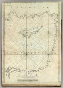 Carte De La Mer Mediterranee.  X.