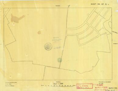 Cyprus 1: 2, 500 (Sheet XXI 37E1) 1950