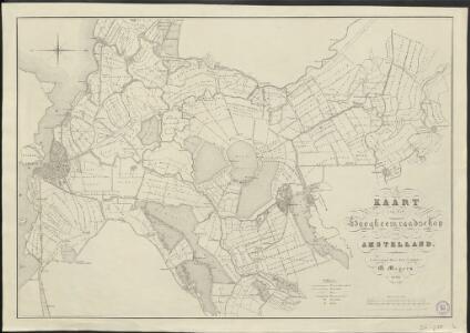 Kaart van het Hoogheemraadschap Amstelland