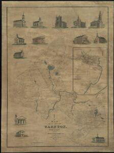 Map of the town of Taunton, with a view of the public buildings