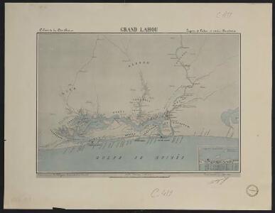 Colonie de la Côte d'Ivoire. Grand Lahou. Lagune de Lahou et rivière Bandama
